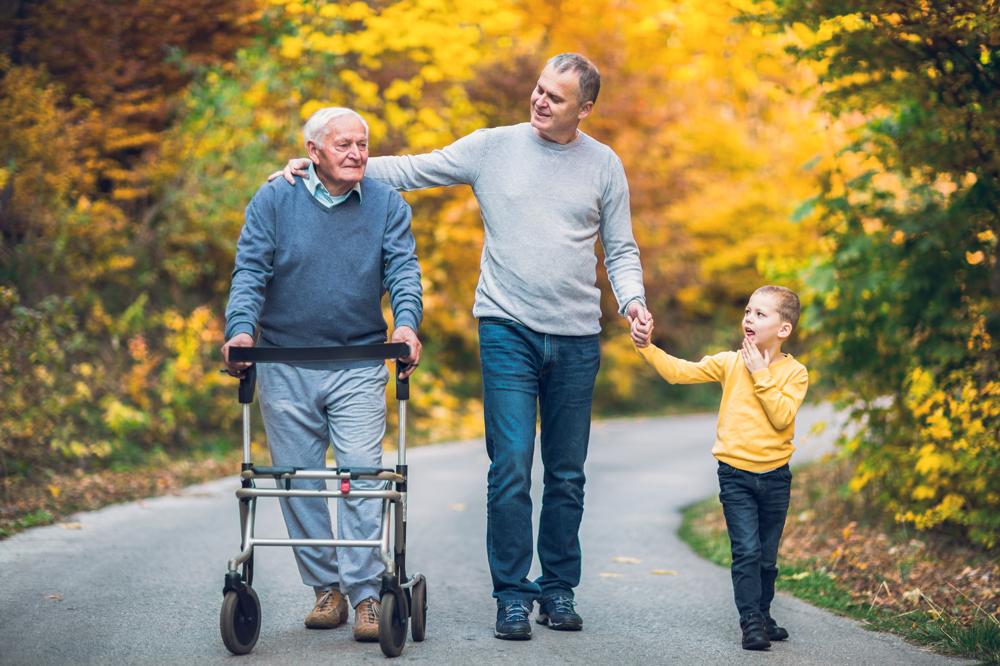 Family walking in Adams County
