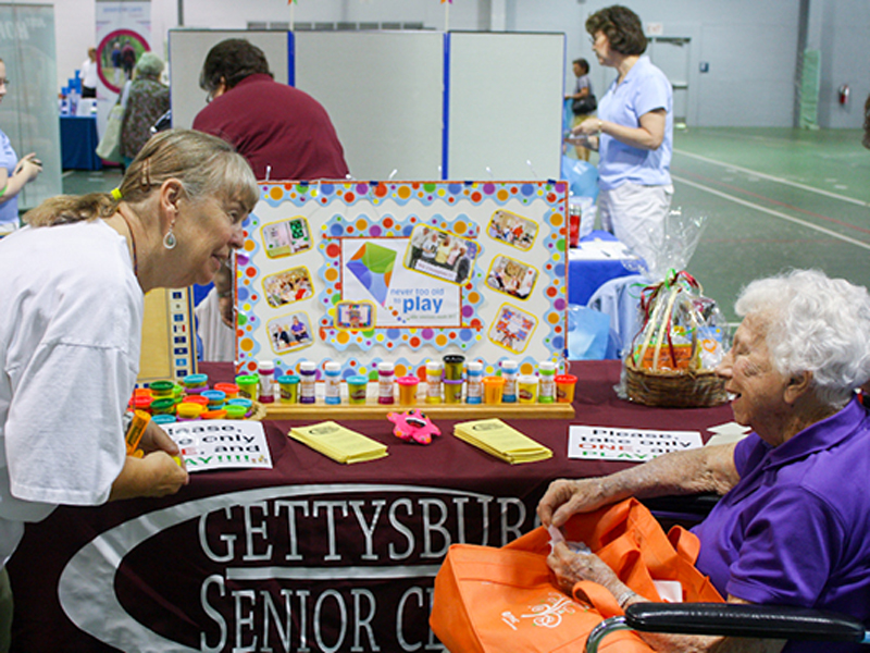 Gettysburg senior center events